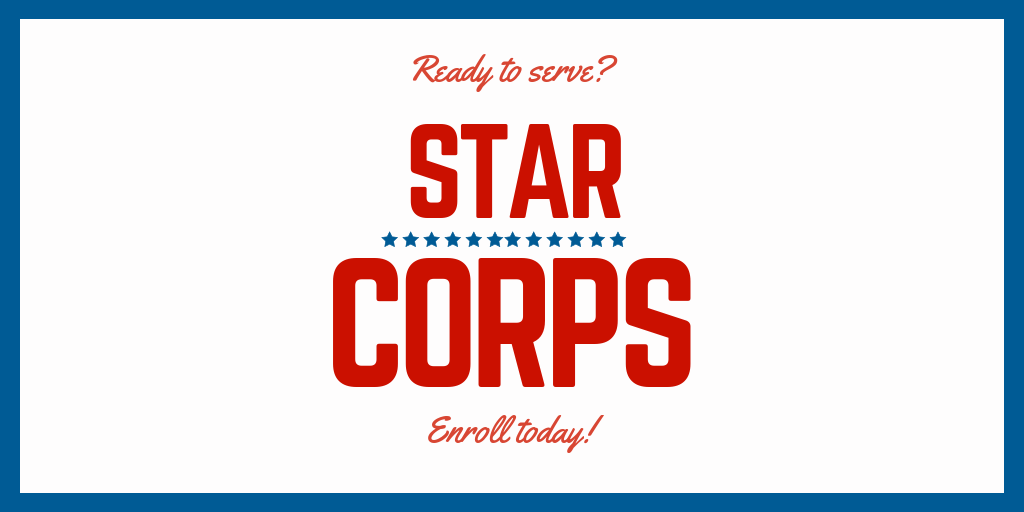 Ready to Serve? Start today! Star Corps