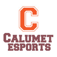 Calumet esports logo with large orange letter C